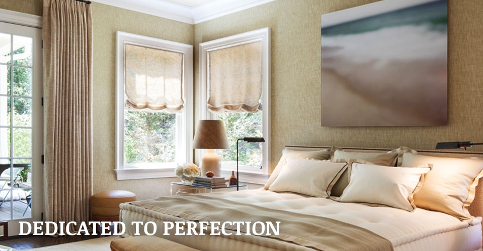 Roman shades and draperies by Hartman and Forbes SK Shading Systems